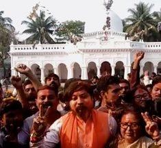 প্রতিবাদ উধাও, কোচবিহারে পা রাখতেই নিশীথের নামে জয়ধ্বনি গেরুয়া বাহিনীর